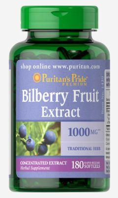 Extrato de Mirtilo (Bilberry) 1000mg| 180 Softgels - Puritan's Pride