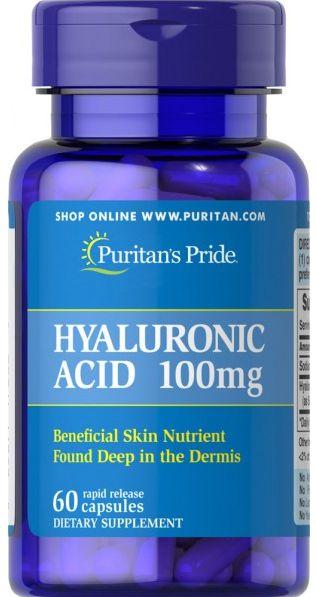 Ácido Hialurônico 100mg | 60 cápsulas - Puritan's Pride