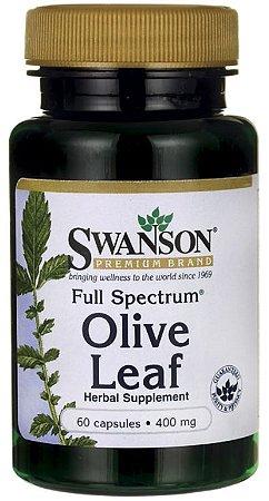 Folha de Azeitona (Olive Leaf - Olea Europaea) 400mg  | 60 Cápsulas - Swanson