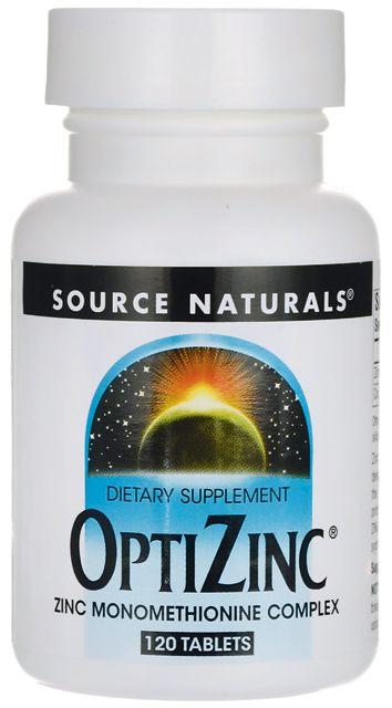 OptiZinc 30mg + Cobre 300mcg 120 Tablets - Source Naturals