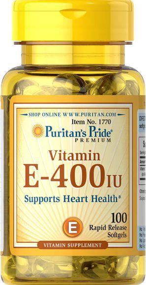 Vitamina E 400 IU| 100 Softgels - Puritan's Pride
