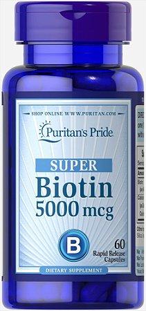SUPER Biotina 5.000mcg | 60 Softgels - Puritan