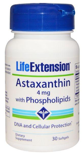 Astaxantina com Fosfolipídios 4mg | 30 Softgels - Life Extension
