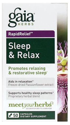 Durma & Relaxe (Ação Rápida) | 50 Cápsulas - Gaia Herbs