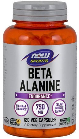Beta Alanine 750mg | 120 cápsulas - Now