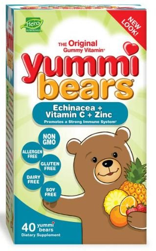 Yammi Bear Kids - Vitamina C + Zinco + Echinacea - Infantil | 40 Gomas - Hero Nutritionals