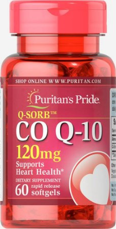 Q-Sorb Coq10 120mg | 60 Softgels - Puritan's Pride
