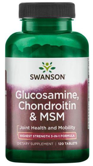 Glucosamina, Condroitina & MSM | 120 Tablets - Swanson