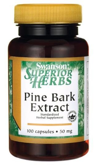 Pine Bark Extract 50mg | 100 Cápsulas - Swanson Superior Herbs