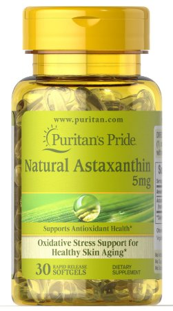 Astaxantina Natural 5mg | 30 Cápsulas - Puritan's Pride