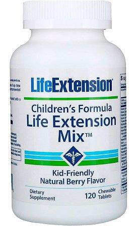 Children's Formula Life Extension Mix™ (Fórmula Infantil) | 120 pastilhas de frutas - Life Extension