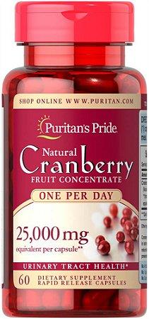 Cranberry 25.000mg| 60 Cápsulas Rapid Release (Absorção Rápida) - Puritan's Pride