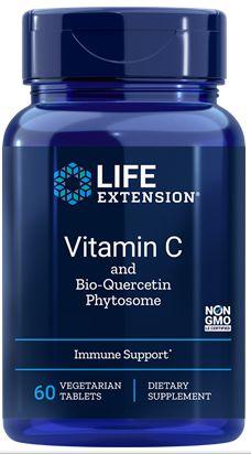 Vitamina C e Fitossomo de Bioquercetina (Vitamin C and Bio-Quercetin Phytosome) | 60 tablets - Life Extension