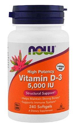 Vitamina D3 5.000 UI | 240 Softgels - NOW