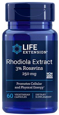 Rhodiola Extract 250mg | 60 Cápsulas - Life Extension