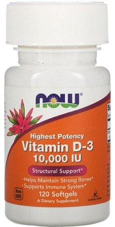 Vitamina D3 10.000 UI | 120 Softgels - NOW