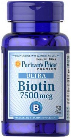 Biotina ULTRA 7.500mcg | 50 Cápsulas - Puritan