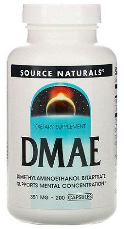 DMAE 351mg | 200 Cápsulas - Source Naturals