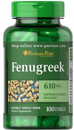 Feno-Grego (Fenugreek) 610mg | 100 Cápsulas - Puritan's Pride