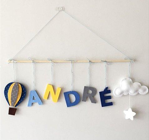 Porta de Maternidade – Balão + Nuvem + Estrela