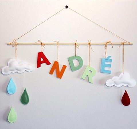 Porta de Maternidade - Nuvem + Gotinhas
