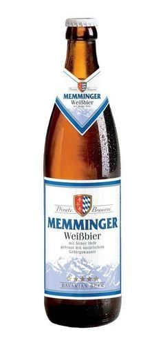 Cerveja Alemã Memminger Weiss 500ml C/ Água Dos Alpes