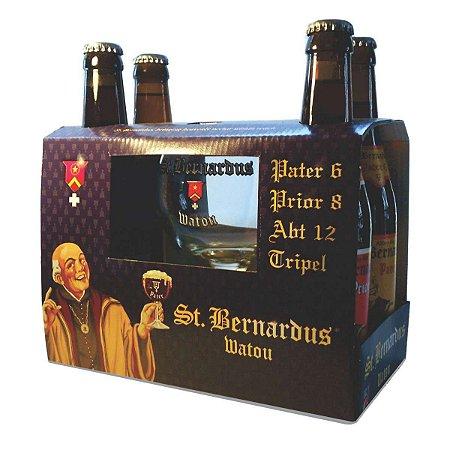 Kit Cervejas Belgas St Bernardus para presente