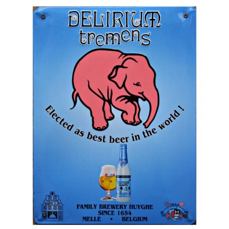 Placa Delirium Tremens Metal