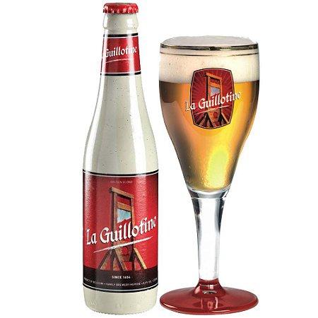 Cerveja La Guillotine e copo