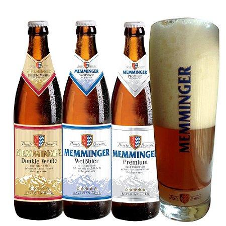 Kit Memminger 3 Garrafas + copo novo