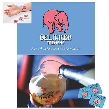 Placa Cerveja Delirium Dupla Face Pvc Cristal