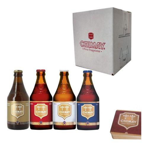 Kit Belga Chimay Quarteto Degustação P/ Presente