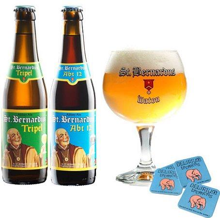 Kit St Bernardus 2 cervejas + taça