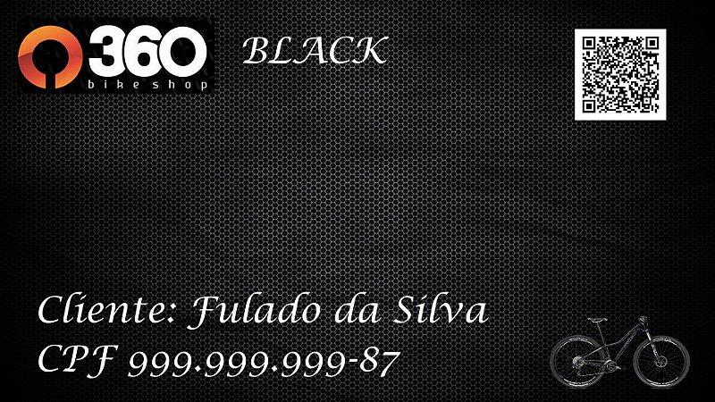 3 - 360 Bike Shop - Cartão Black - 1 Bike