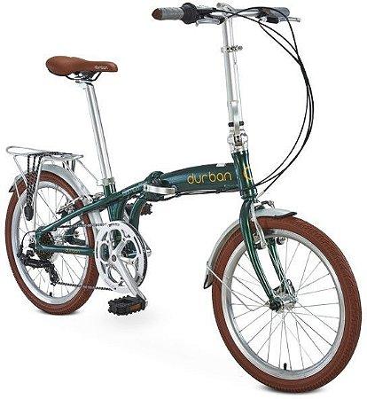 Bicicleta Dobrável Durban Sampa Pro R20 Alumínio Minio Verde