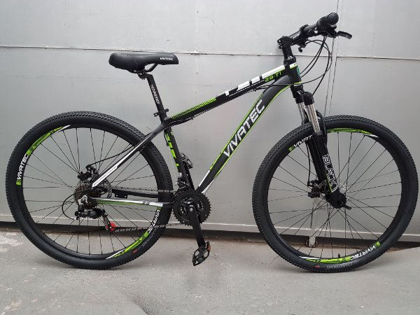 Bicicleta 29 Mountain Bike 21 Vivatec T1 Verde - Quadro 17