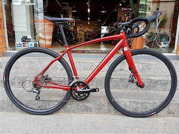 Bicicleta Specialized Diverge A1 - Vermelha - Tamanho 54 - Seminovo