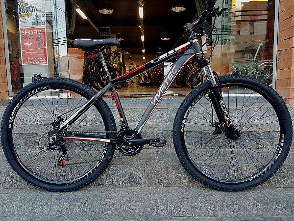 Bicicleta 29 Mountain Bike 21 Vivatec T1 Preto \ Vermelho - Quadro 17