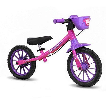 Bicicleta Infantil Balance Equilibrio Nathor Aro 12 Lilas