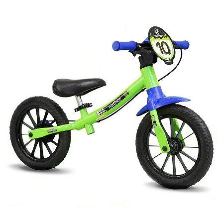Bicicleta Infantil Balance Equilibrio Nathor Aro 12 Verde