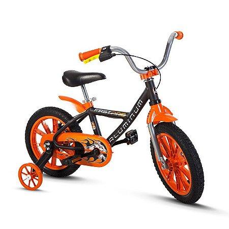 Bicicleta Infantil Nathor Aro 14 First Pro Preta