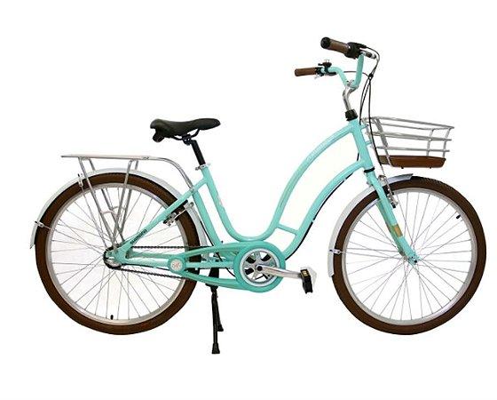 Bicicleta Retrô Antonella Passeio Nathor R26 3v Nexus Verde