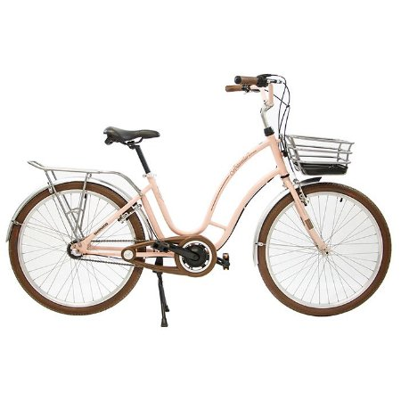 Bicicleta Retrô Antonella Passeio Nathor R26 3v Nexus Rosa