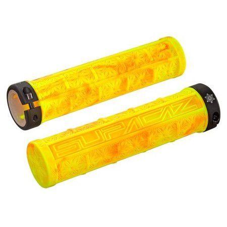 Manopla Supacaz Grizips Amarelo Com Vermelho