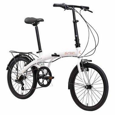 Bicicleta Dobrável Aro 20 Durban Eco+ 6 Velocidades Branca