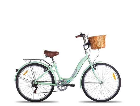 Bicicleta Mobele City Cycling/Hit Verde 7 Velocidades