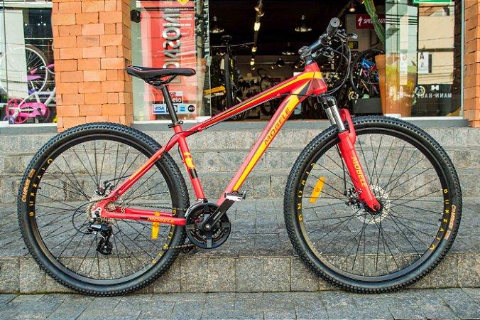 Bicicleta Mobele Buffalo Vermelha Com Amarelo