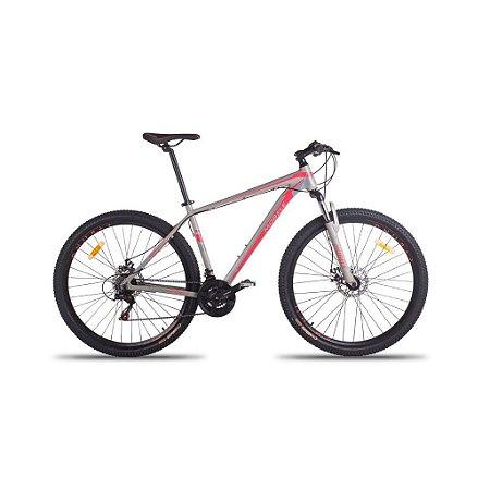 Bicicleta Mobele Rhino Cinza Com Salmão