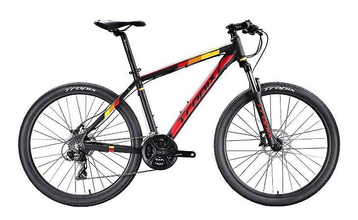 Bicicleta Tropix Andrew R29 T19 24v Tourney Fdm Scto Preta/vermelho