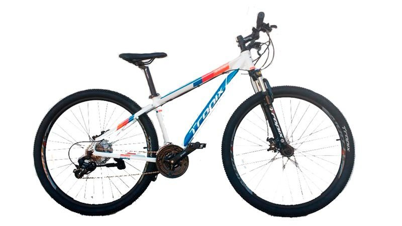 Bicicleta Tropix Andrew R29 T19 24v Tourney Fdm Scto Branca/azul